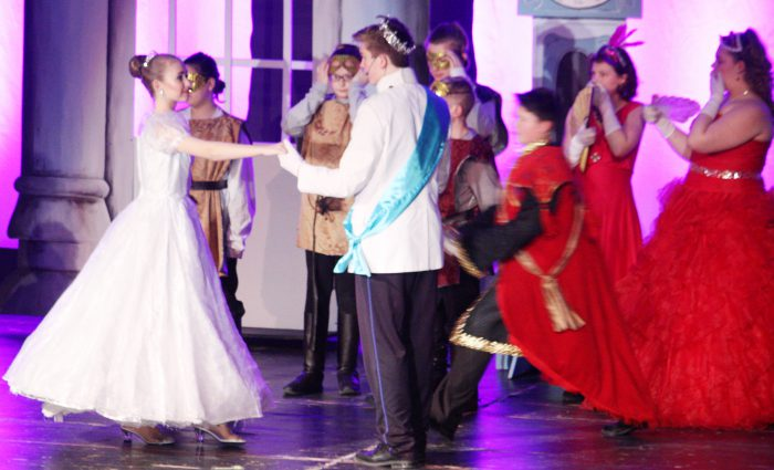 Cinderella meets the prince