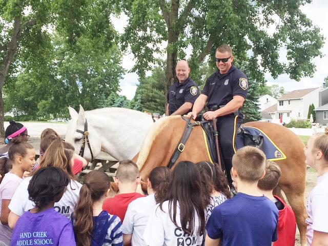 police officer on horseback