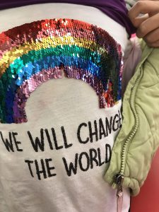 we will change the world message on a t shirt