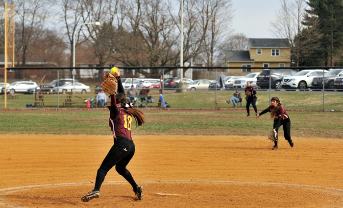 girl pitching a softball under hand