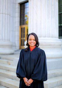 black woman in judge robe