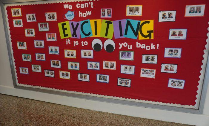 bulletin board at an elementary school