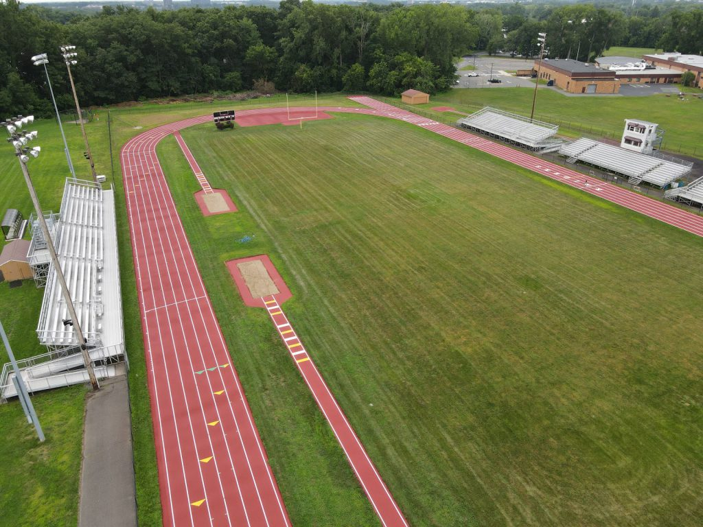 aerial view of the South Colonie track updates